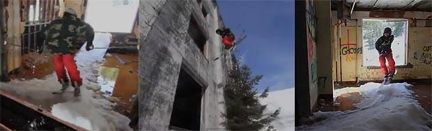skiing v budove