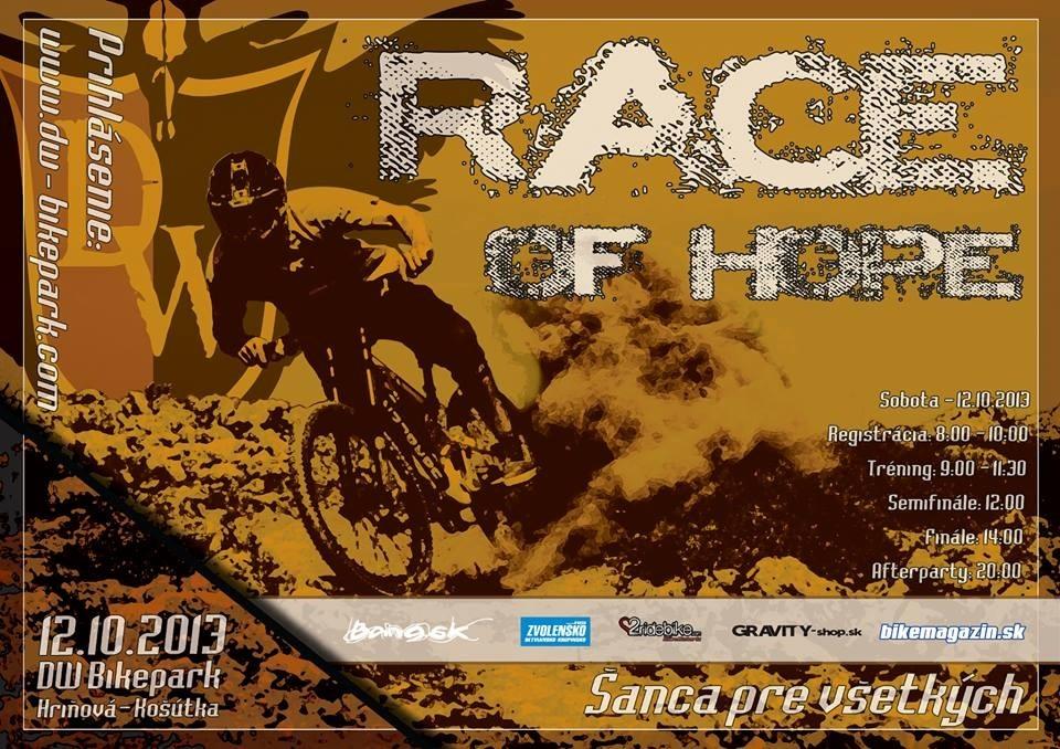 race of hope Košutka 2013 - plagát