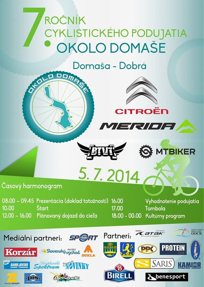 Cyklistická tour Okolo Domaše 2014