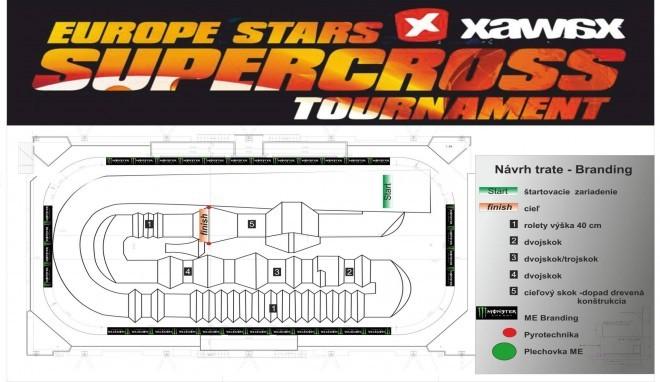 návrh trate Supercross 2015