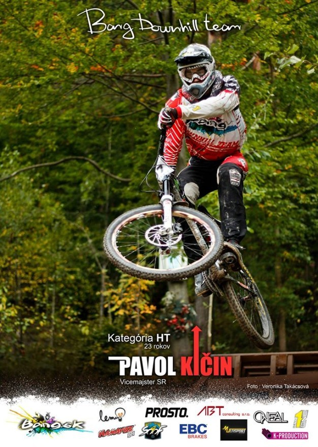 pavol kičin bang downhill team sezona 2013 plagat