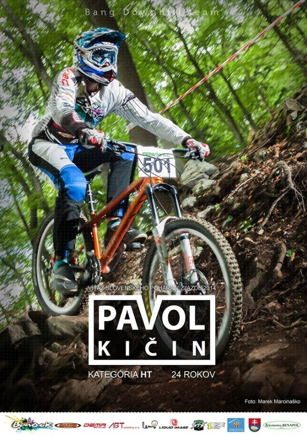 pavol kičin bang downhill team sezona 2014 plagat b
