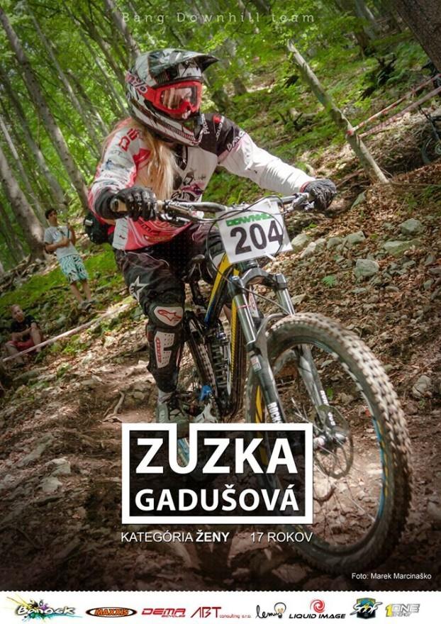 zuzana gadusova bang downhill team 2014 plagat a