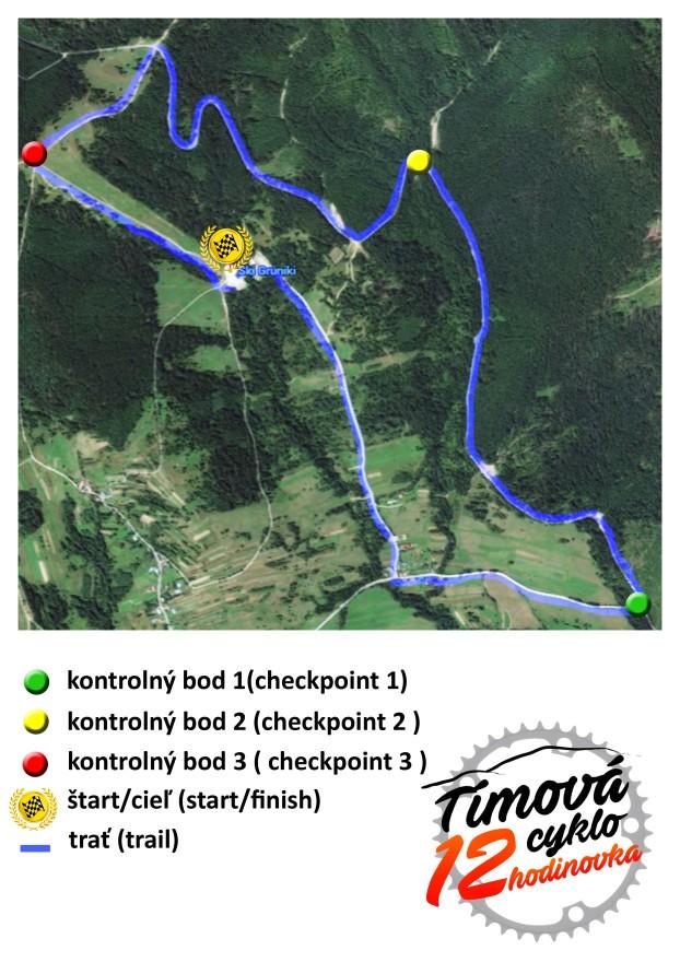 mapa závodu 1