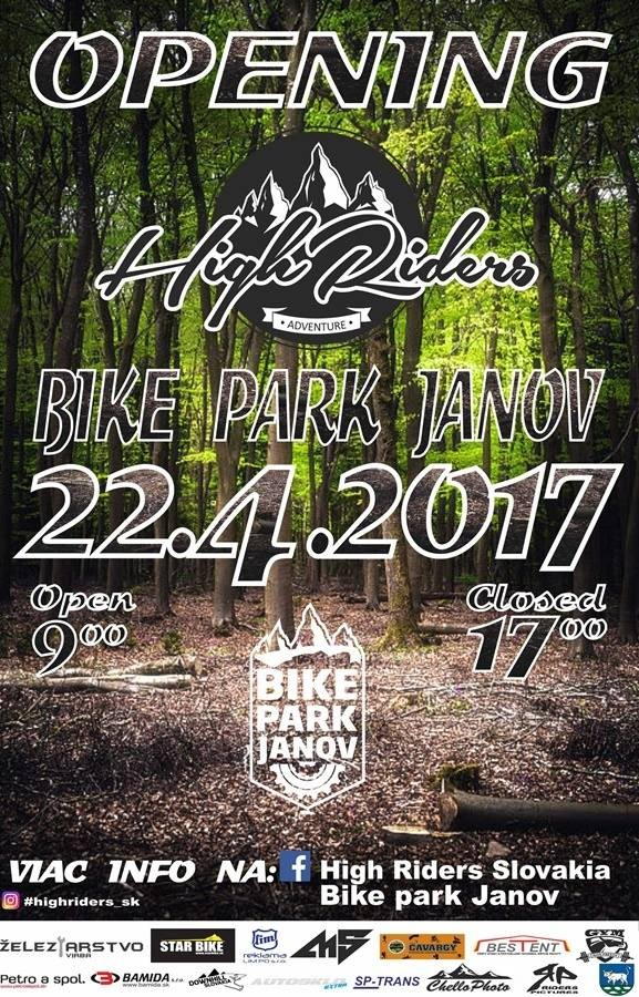 plagat Bike park Janov otváračka